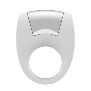 Ovo B8 Эрекционное кольцо, белое С виброэлементом, стимулирующее клитор hustler safari