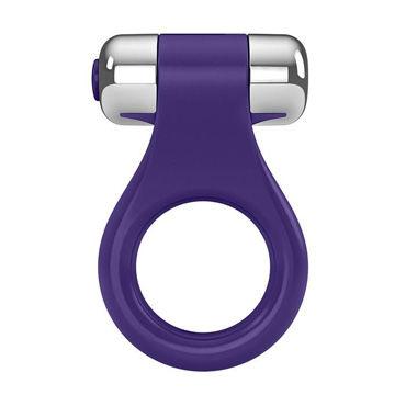 Ovo B1 Эрекционное кольцо, фиолетовое С виброэлементом черное боди adara l xl