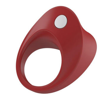 Ovo B11 Эрекционное кольцо, красное С виброэлементом, стимулирующее клитор ovo l1a petite love balls розовые комплект вагинальных шариков