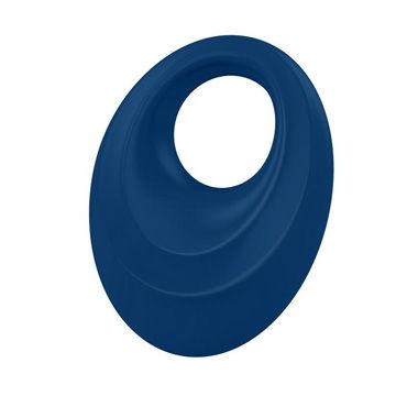 Ovo B5 Эрекционное кольцо, синее С виброэлементом и клиторальным стимулятором анальная пробка ребристая silver small с малиновой вставкой в коробочке