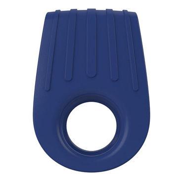 Ovo B12 Эрекционное кольцо, синее С виброэлементом, два отверстия для пениса увлажняющие смазки sico bumming