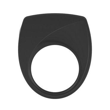 Ovo B6  Эрекционное кольцо, черное С виброэлементом ovo b12 эрекционное кольцо синее с виброэлементом два отверстия для пениса