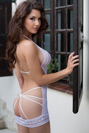 Soft Line комбинация, белая Полностью открытая сзади женское платье line