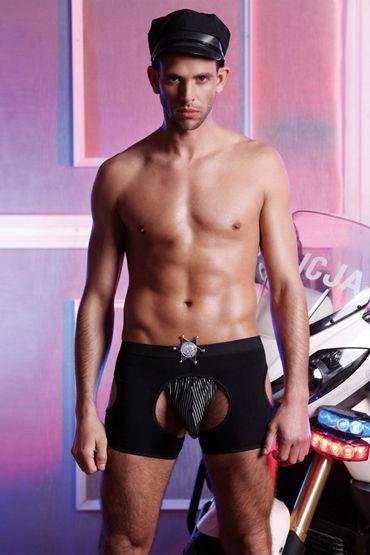 Candy Boy Костюм Полицейского Стринги и откровенные шорты заводная игрушка пенис