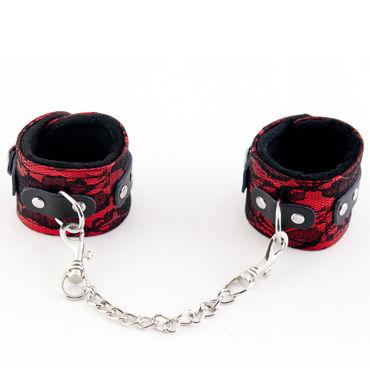 ToyFa Marcus Наручники, красные С кружевной отделкой toyfa marcus наручники серебристые с кружевной отделкой