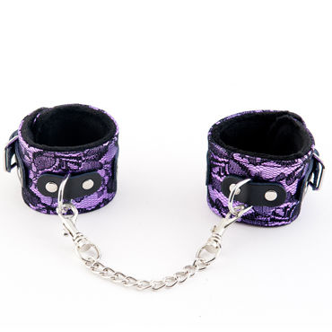 ToyFa Marcus Наручники, фиолетовые С кружевной отделкой baci пленница секса топ мини юбка и манжеты на цепочке
