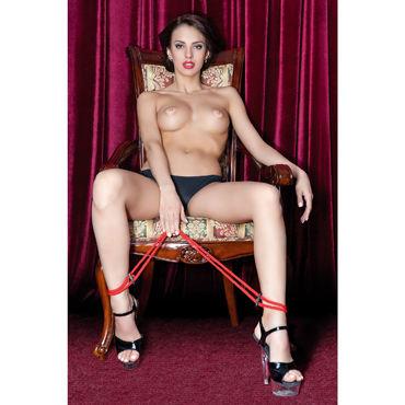 ToyFa Theatre Оковы, красные Из плетеной веревки размер шрифта сексуальное женское белье ночь ночная сорочка сексуальный костюм для взрослых продуктов молочно белый сорочка