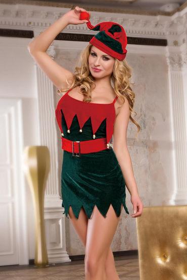 Soft Line Костюм помощницы Санты Платье, головной убор и стринги костюм рождественской санты 40 44