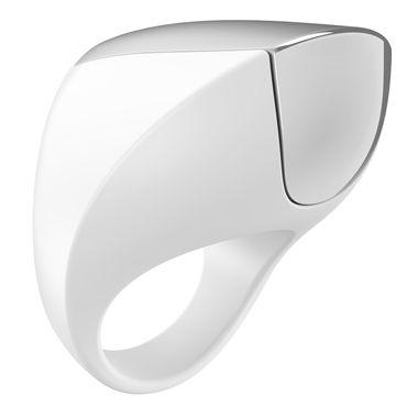 Ovo A1 Эрекционное кольцо, белое С перезаряжаемым аккумулятором с ovo b10 эрекционное кольцо черное