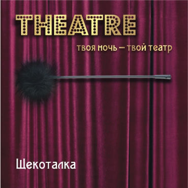 ToyFa Theatre Щекоталка, черная С гибкой ручкой gift set of basix long boy flesh and a bottle of id glide 4 4 oz flip cap bottle