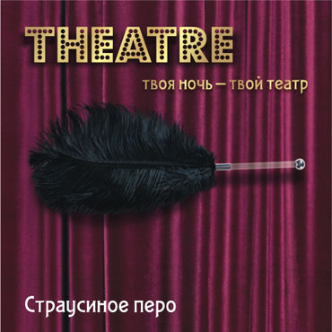 ToyFa Theatre Страусиное перо, черное С рукояткой вибратор moonar multi yp0108 60 0108yp c7