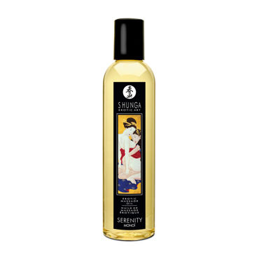 Shunga Sereniti Monoi, 250мл Массажное масло, моной shunga kissable massage cream pear