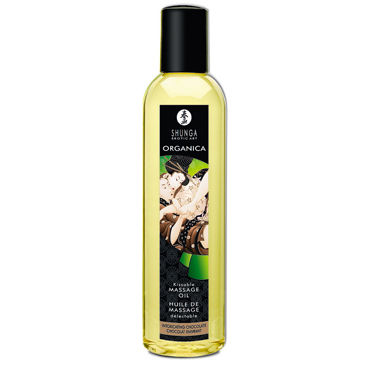 Shunga Organica, 250 мл Массажное масло, пьянящий шоколад shunga kissable massage cream pear