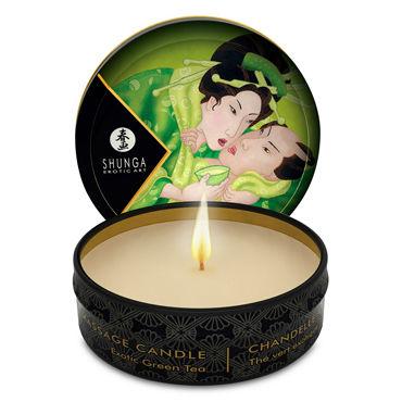 Shunga Massage Candle Exotic Green Tea, 30м Массажная свеча, зеленый чай shunga massage candle 30мл жен