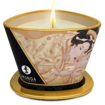 Shunga Massage Candle, 170мл Массажная свеча, ванильный фетиш shunga massage candle 170мл массажная свеча пьянящий шоколад