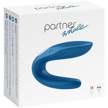 Satisfyer Partner Whale, синий Многофункциональный стимулятор для пар ns novelties virtue trio розовый ежик