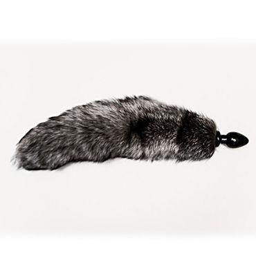 Wild Lust анальная пробка 4 см, серый С лисьим хвостом анальная пробка стеклянная crystal delight short stem с хвостом из меха кролика на магните pink