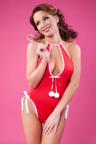 Erolanta Lingerie Боди, красное Новогоднее с помпонами н erolanta комплектации