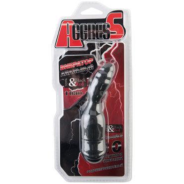 Toyfa Black&Red Вибратор анальный, черный Небольшого размера вибратор miss bi black line