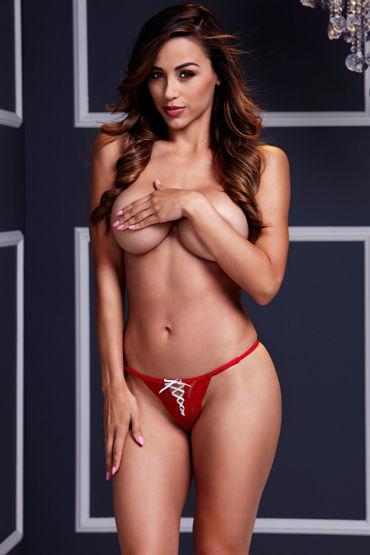 все цены на Baci Трусики стринги, красно-белые С сексуальной шнуровкой онлайн