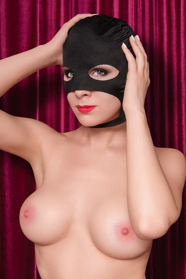 ToyFa Theatre Маска балаклава, черная С открытыми глазами, носом и ртом комплект бондажный toyfa theatre черно серебристый