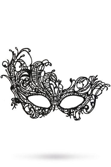 Toyfa Theatre маска Страусиное перо, черная Маска ажурная из нитей ажурная маска на глаза uni