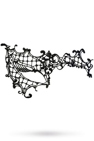 Toyfa Theatre маска Асимметрия, черная Маска ажурная из нитей toyfa theatre маска бабочка черная маска ажурная из нитей