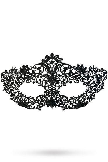 Toyfa Theatre маска Королевская вязь, черная Маска ажурная из нитей