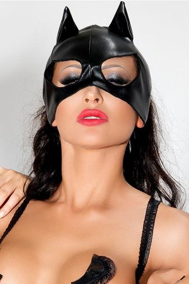 Me Seduce Маска с ушками, черная С открытыми вырезами для глаз маска baci lingerie со стразами masq midnight черная