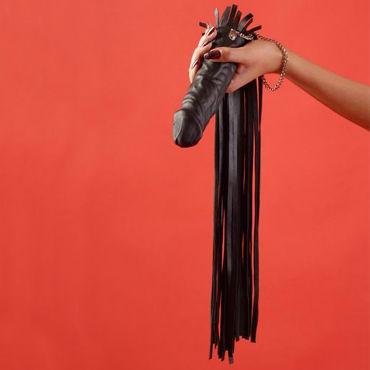 Podium флогер-фаллос, черный С мягкими хвостами podium флогер черно красный с 35 хвостами