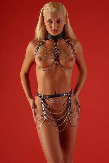 Podium комплект Лиф и юбочка с цепочками livco corsetti choker 27022 черный чокер на шею с подвеской