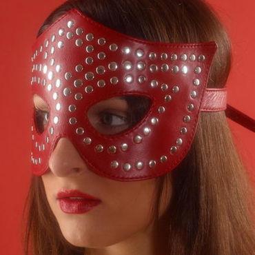 Podium очки-маска, красные На кожаной подкладке toyfa a toys multi speed vibrator 19 5см телесный вибратор реалистичный многоскоростной