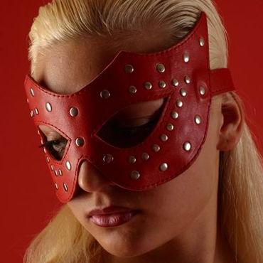 Podium очки-маска, красные На кожаной подкладке плетка из натуральной кожи