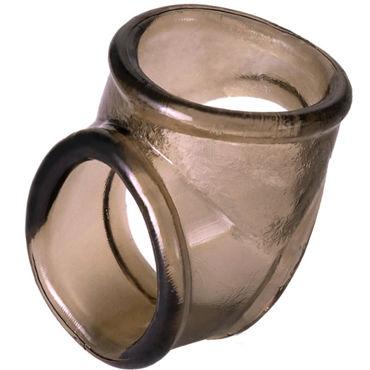 ToyFa Xlover Cock Ring, черное Кольцо с отверстием для мошонки bad kitty cock ring черное кольцо насадка для пениса и мошонки