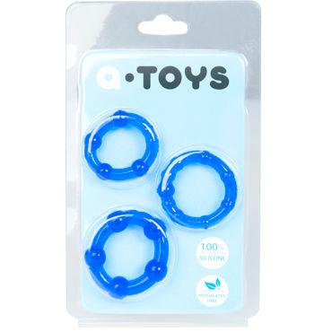 Toyfa A-toys Набор колец, синие Со стимулирующими шариками masculan клубничка 50мл 30