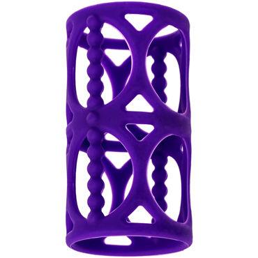Toyfa A-toys Penis Extender, фиолетовая Насадка на пенис стимулирующая с бусинами