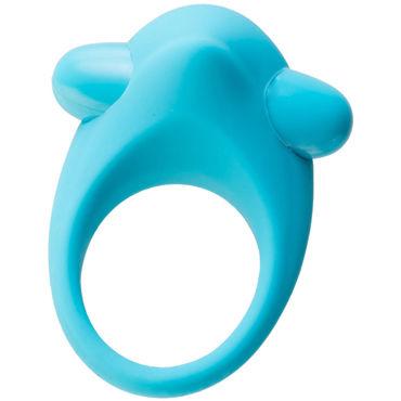 Toyfa A-toys Cock Ring, голубое Эрекционное кольцо с вибрацией и бугорком для клитора topco polar night vibrating silicone cock ring эрекционное кольцо с вибрацией