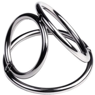 Toyfa Metal Бондаж для пениса S, серебристый Из металлических колец пояса и подтяжки shirley of hollywood