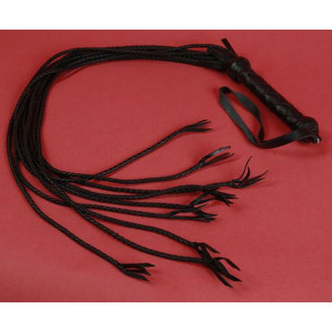 Podium плеть Из девяти кожаных хвостов анальная цепочка flexible wand черная