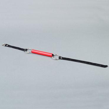 Podium трензель, черно-красный С металлической фурнитурой серебристый стек с крестом uni