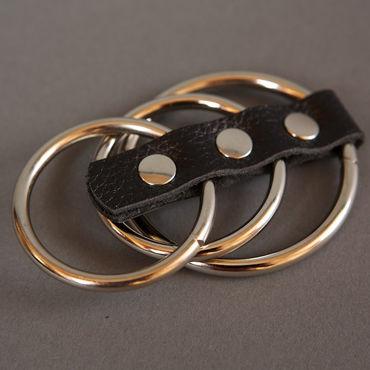 Podium сбруя На фаллос и мошонку, 3 кольца чулки baci lingerie night patrol police с узором высокие черные 42 46