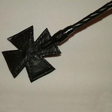 Podium стек, черный С наконечником-крестом, длинный стек с кожанной ручкой белый