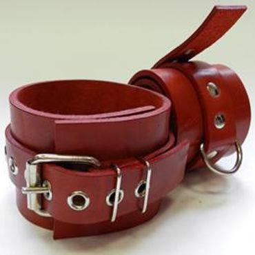 Beastly наручники, красные Фурнитура с никелевым покрытием baile мастурбатор попка с виброэлементом