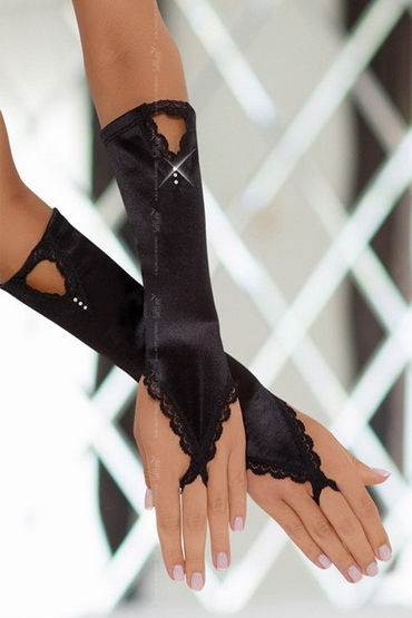 Soft Line перчатки, черные Изысканный аксессуар