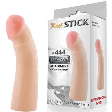 Toyfa RealStick № 444 Реалистичная насадка к трусикам, 16 см фаллоимитатор насадка realstick 449 телесный 15 5 см