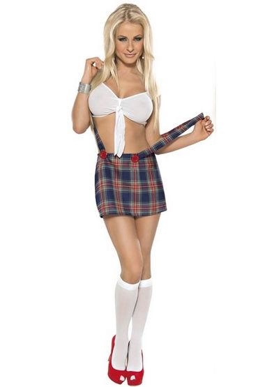 Roxana Школьница Топ, юбка с бретельками и гольфы roxana комплект екатеринбург