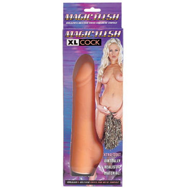 Dream toys Magic Flesh XL Cock Реалистик вибромассажер prettylove magic fingers v с пультом ду