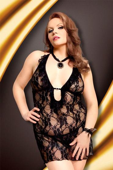 Soft Line Carmen, черный Кружевная сорочка и стринги костюм горничной soft line fifi черный xl