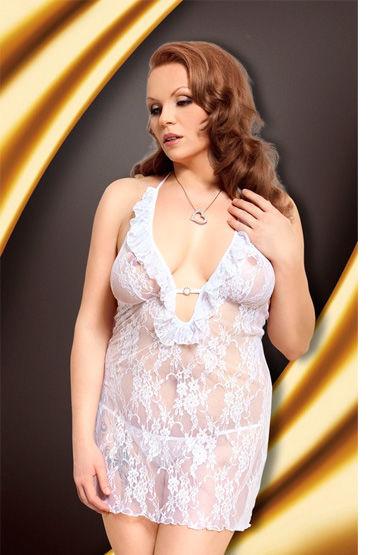 Soft Line Carmen, белый Кружевная сорочка и стринги белый бодистокинг bs017 os