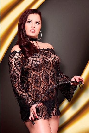 Soft Line платье-сетка Полупрозрачное, с открытыми плечами pjur basic waterbased 100 мл смазка на водной основе